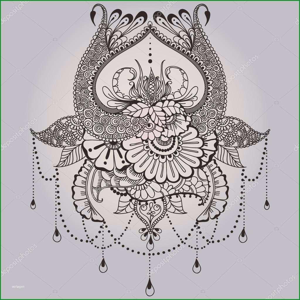 stock illustration mehndy flowers tattoo template