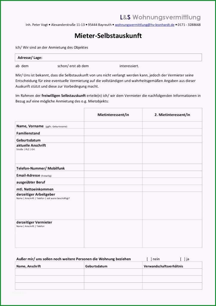 mieterselbstauskunft formular word schon ord und pdf abmahnung
