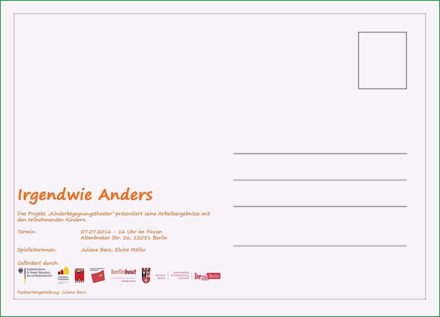 postkarte ruckseite vorlage