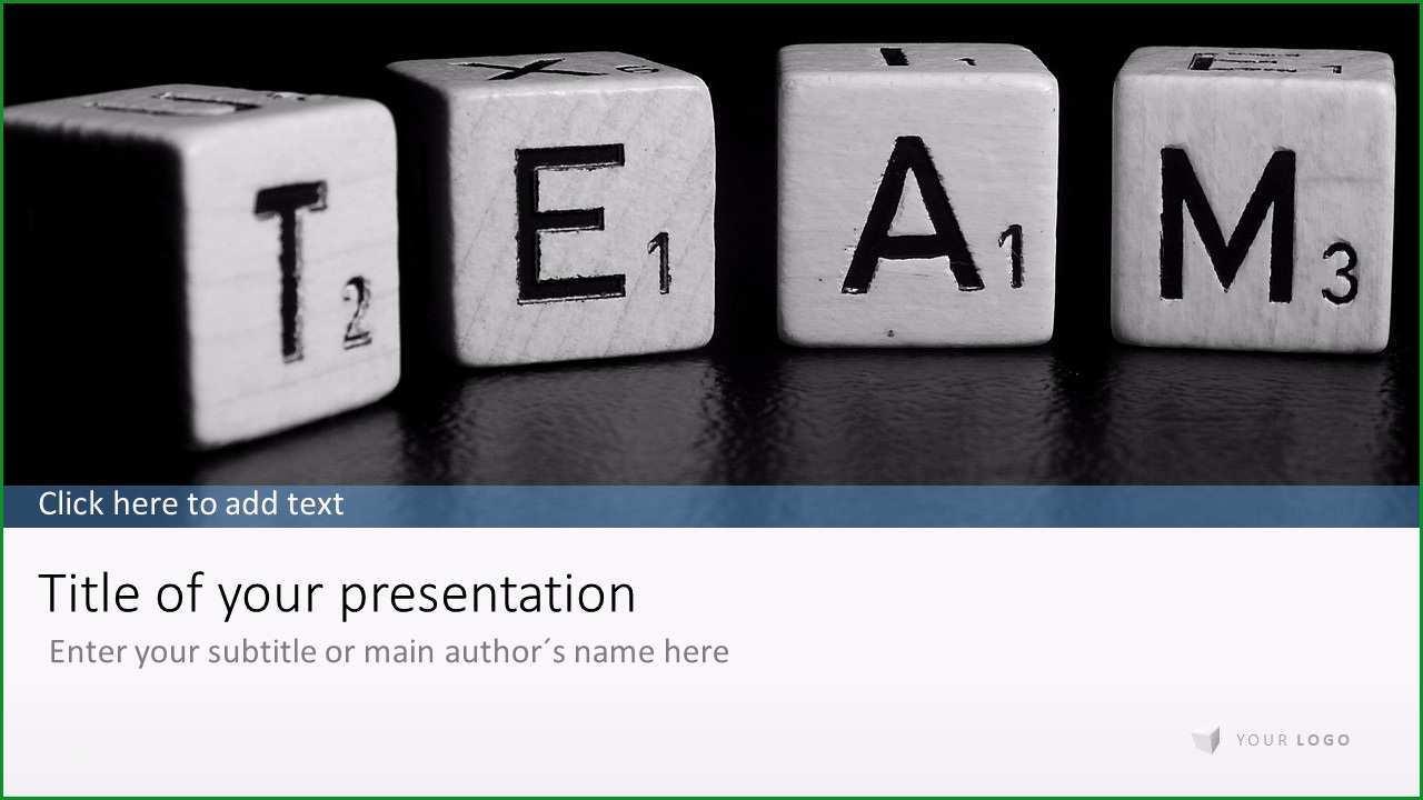 unternehmenspraesentation wuerfel team powerpoint praesentation