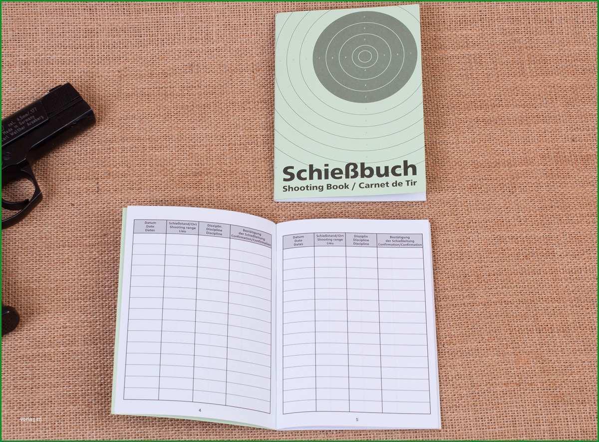 schiessbuch fuer sportschuetzen a6 32 seiten