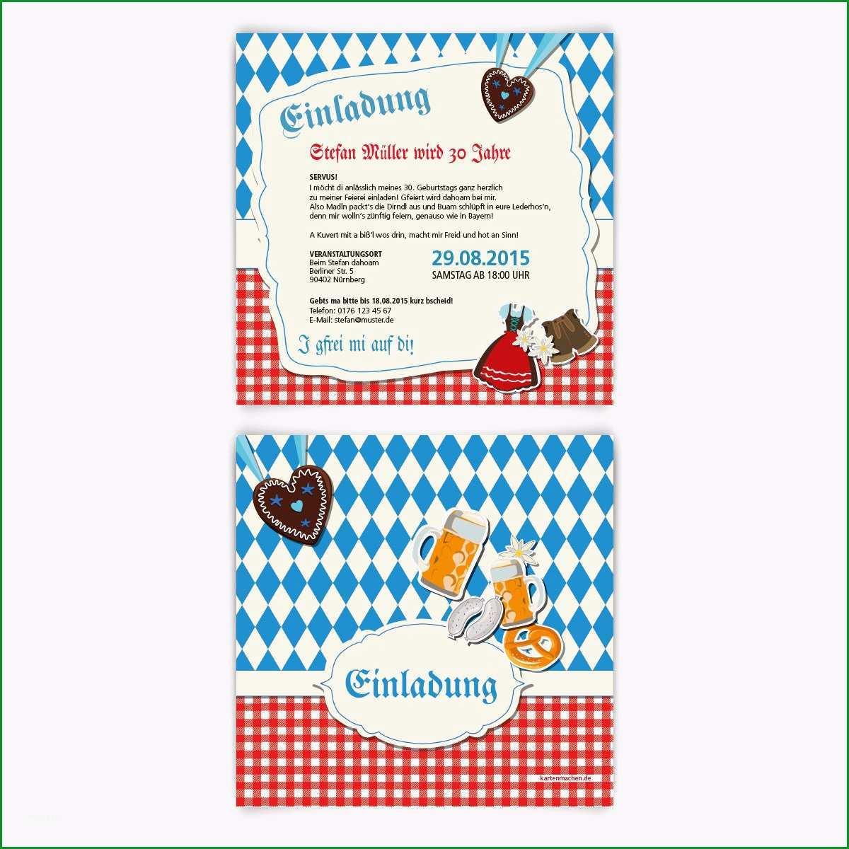 einladungskarten zum bayrischen oktoberfest