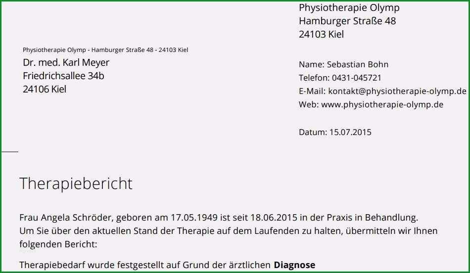 befund physiotherapie vorlage bewundernswert blog terminheld