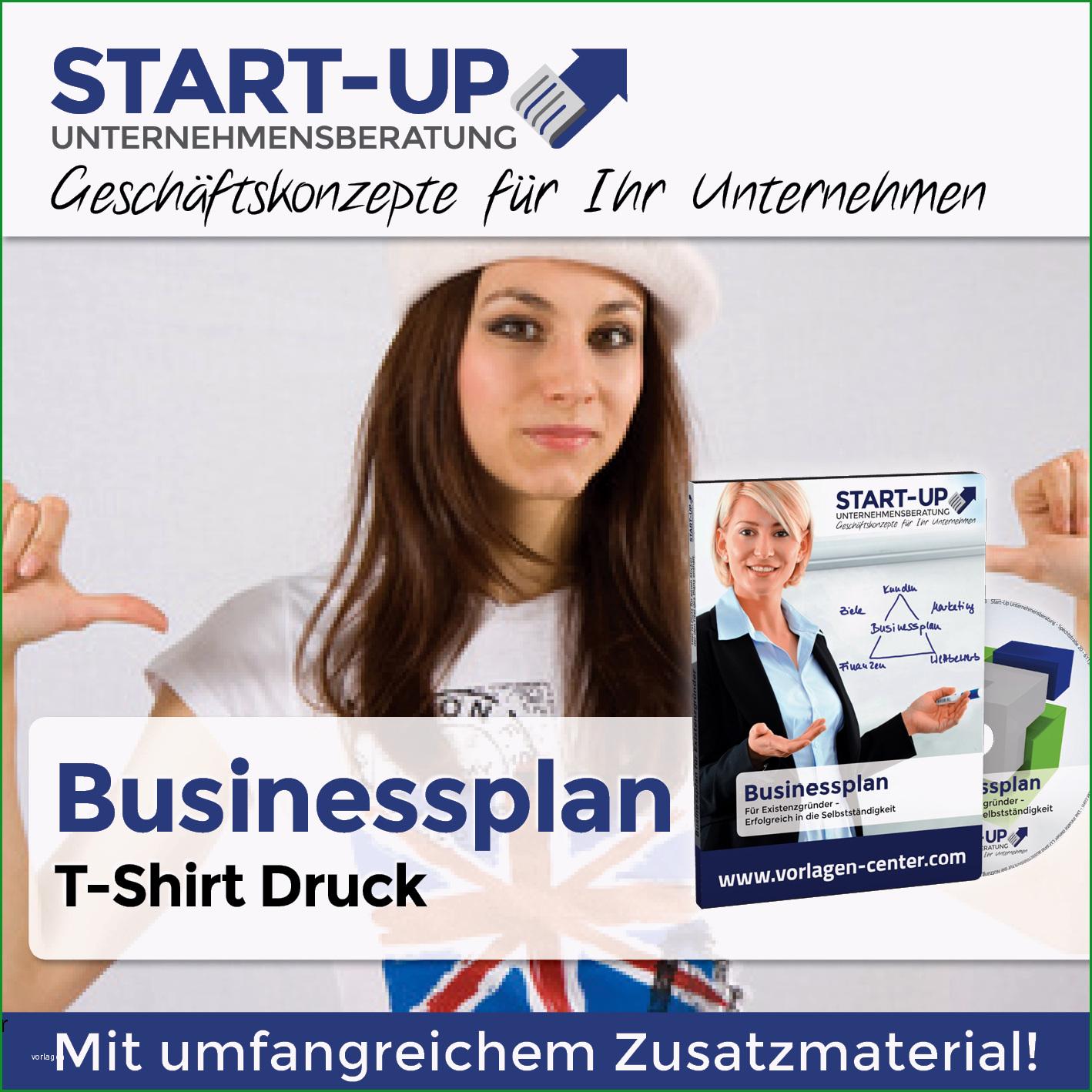 businessplan t shirt druck