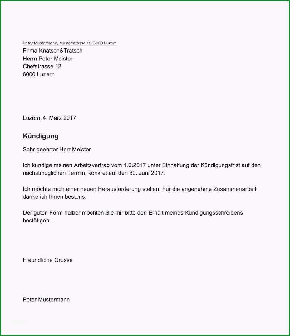 kundigung schreiben arbeitsvertrag einzigartiges einzigartiges muster kundigung arbeitsverhaltnis