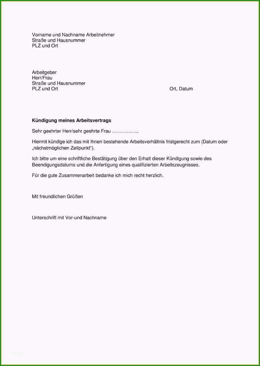 kundigungsschreiben arbeitgeber vorlage kostenlos grosen 7 kundigung schreiben arbeitnehmer