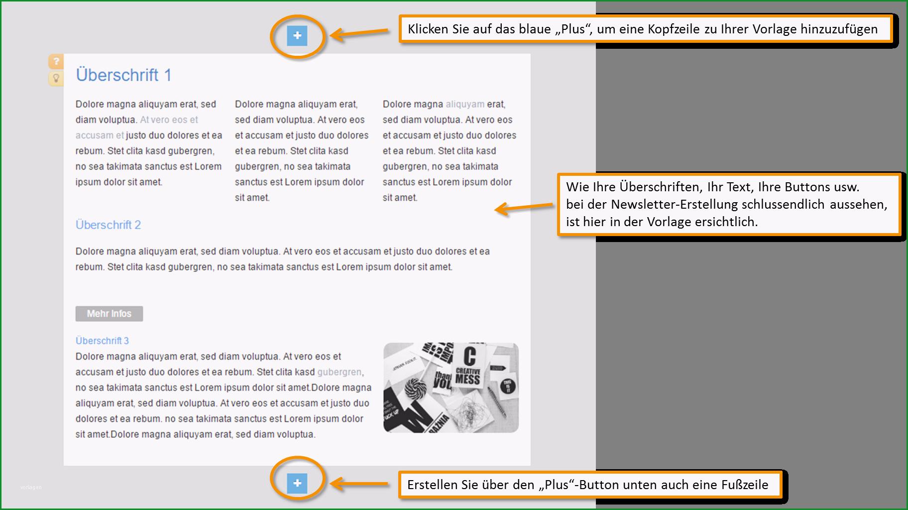 Bemerkenswert Newsletter Vorlage Erstellen Kundenmeister