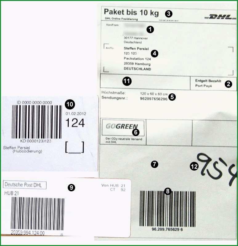 paketaufkleber deutsche post beschreibung briefmarken selber drucken genial absender adressat anschreiben 2018