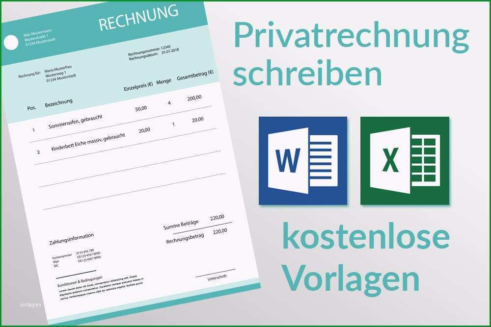 Bemerkenswert Privatrechnung Was Muss Drauf Kostenlose Word Und Excel