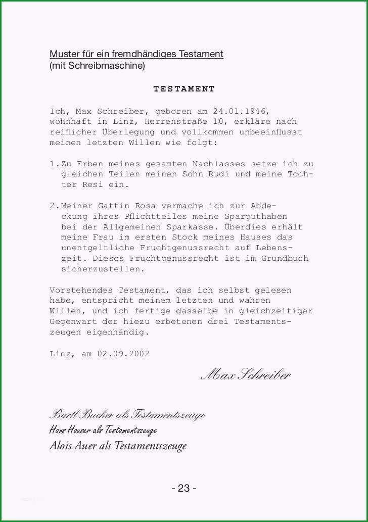testament handschriftlich vorlage wunderbar handbuch erbrecht ctestament handschriftlich vorlage