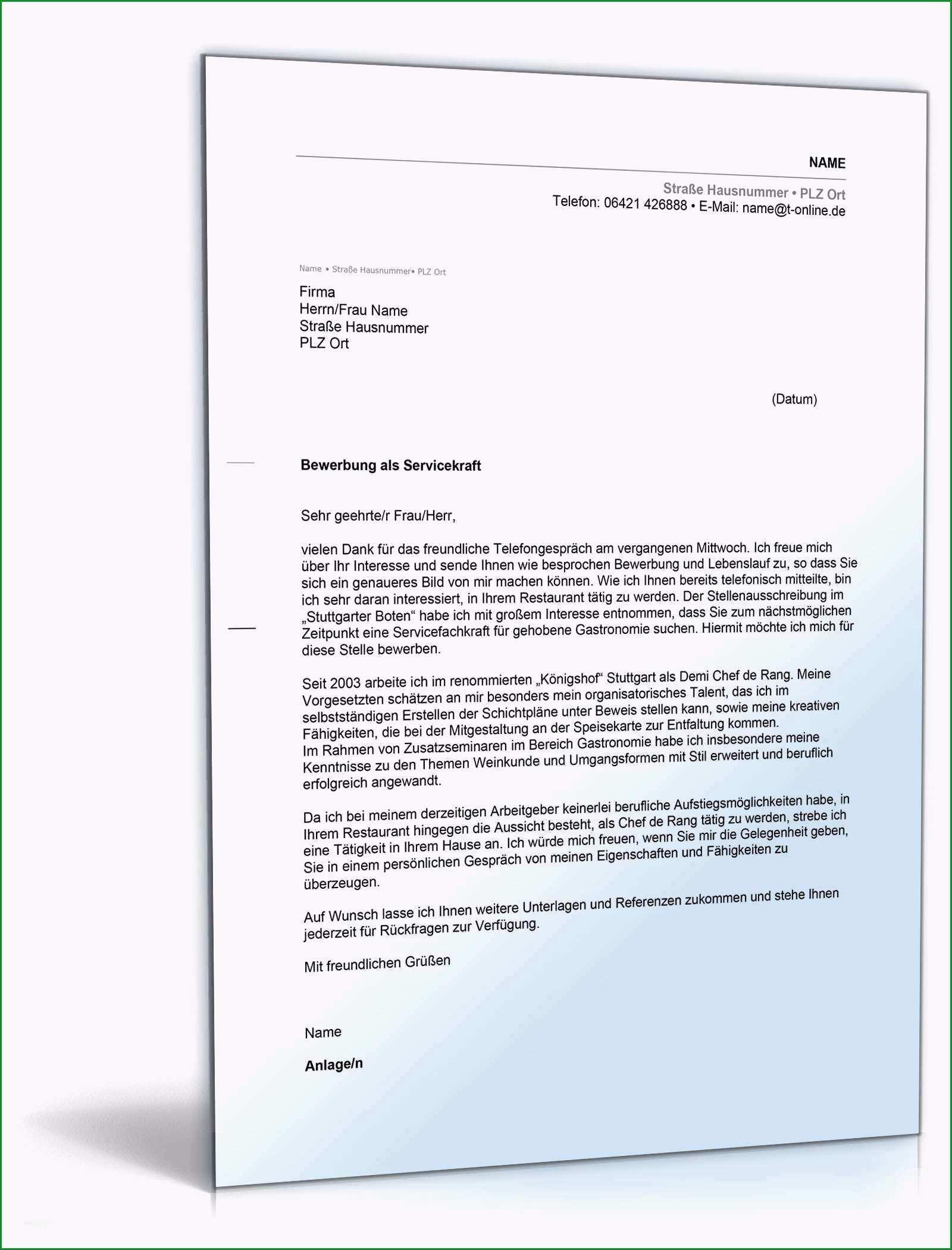 arbeitsschutzbelehrung vorlage gastronomie schonste anschreiben bewerbung servicekraft gastronomie • de
