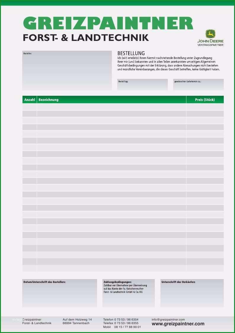aufmas vorlage pdf angenehm bestellformular forst und landtechnik muster