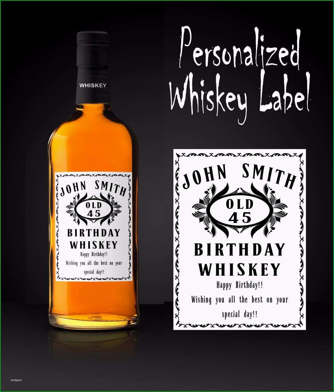 Beste Benutzerdefinierte Etikett Personalisiert Whisky Label