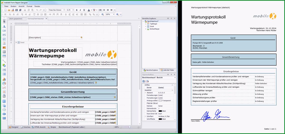 dynamische formulare mobilex mip for field service