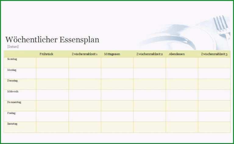 essensplan herunterladen ausdrucken wochenplan vorlagen c6