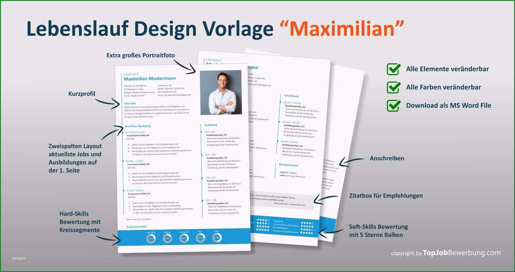 lebenslauf design vorlage professionelle bewerbung