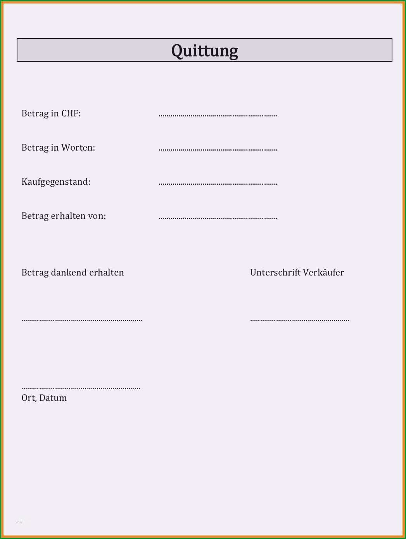 quittung vorlage pdf
