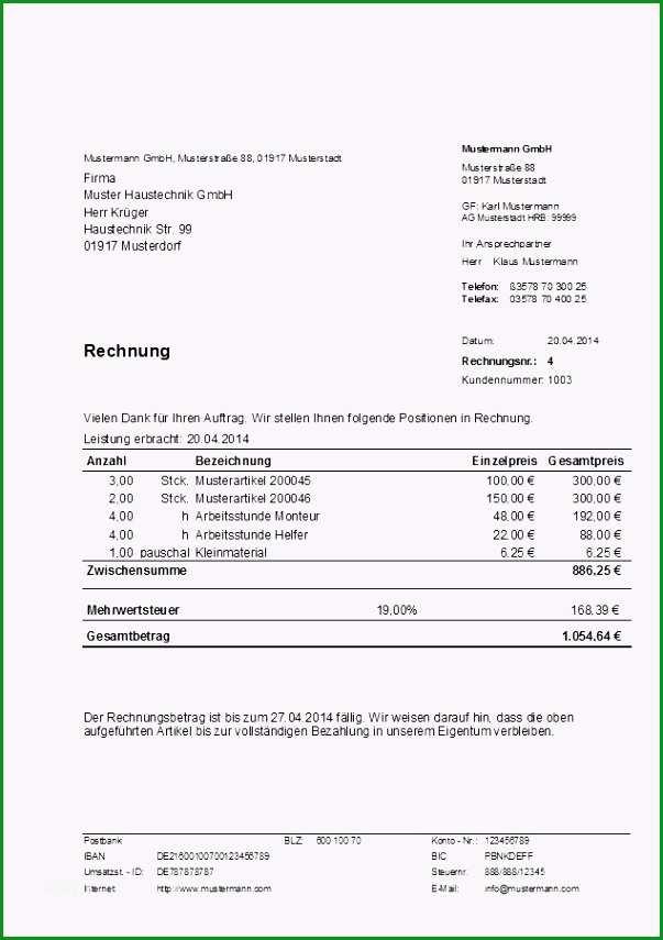 rechnung freiberufler vorlage 10 rechnung schreiben vorlage 2