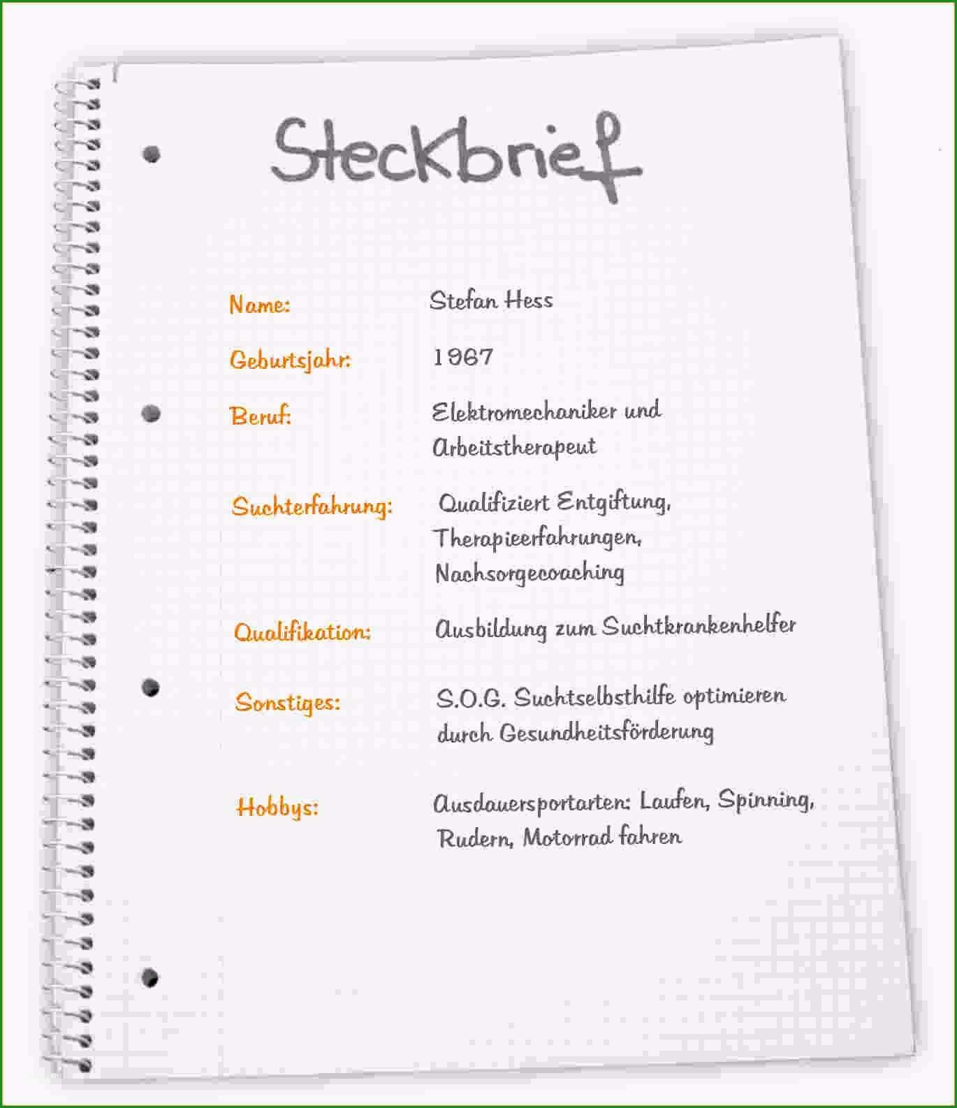 super steckbrief fur kindergarten ndo975
