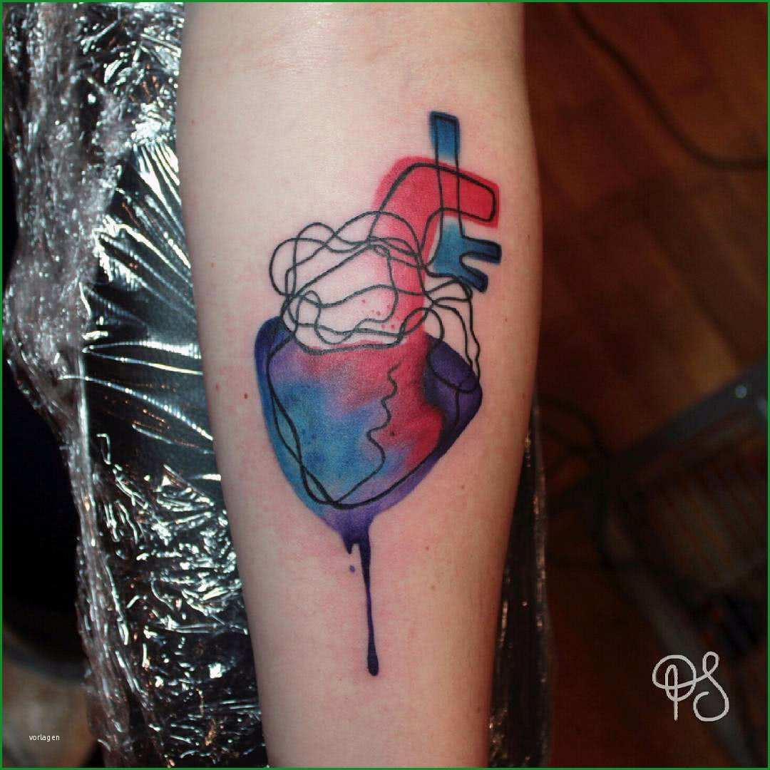tattoo abstraktes anatomisches herz