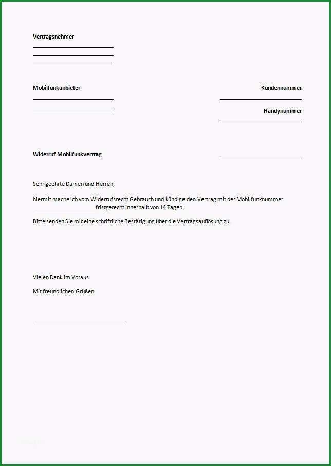 telekom kundigung vorlage word