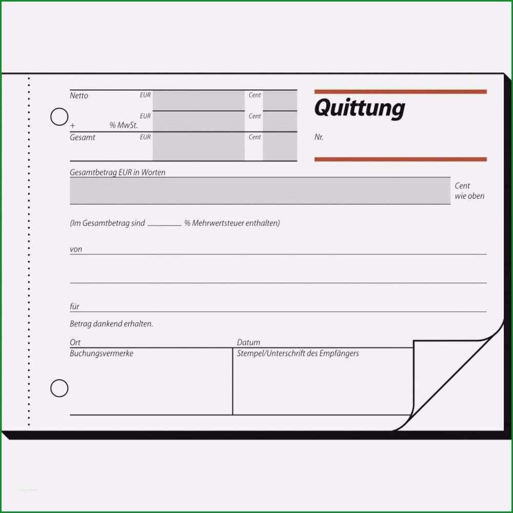 14 quittung ohne mehrwertsteuer vorlage