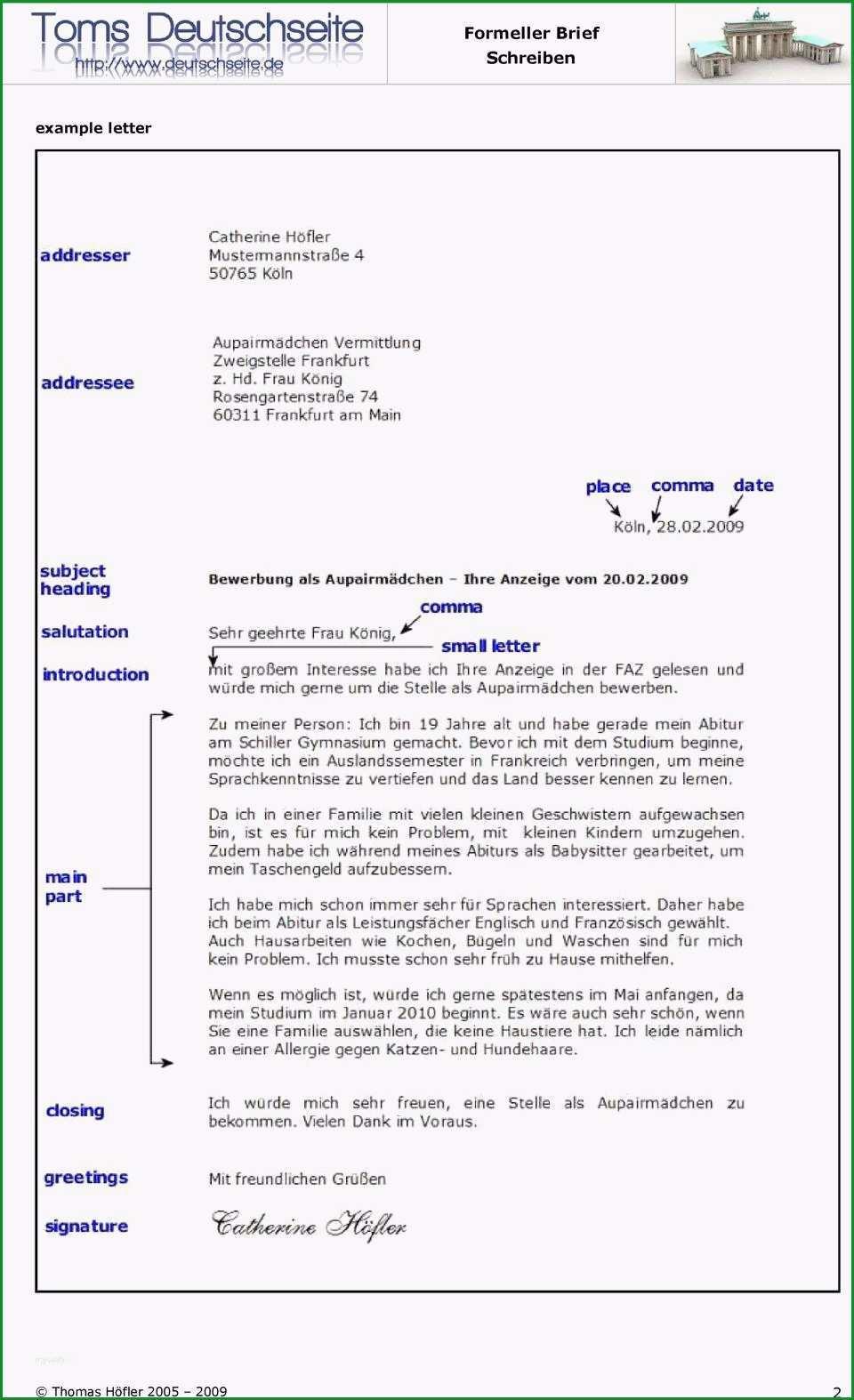 e mail schreiben englisch sammlungen 14 brief englisch muster