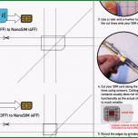Einzahl iPhone 5 Micro Mini Sim Auf Nano Sim Größe Zuschneiden