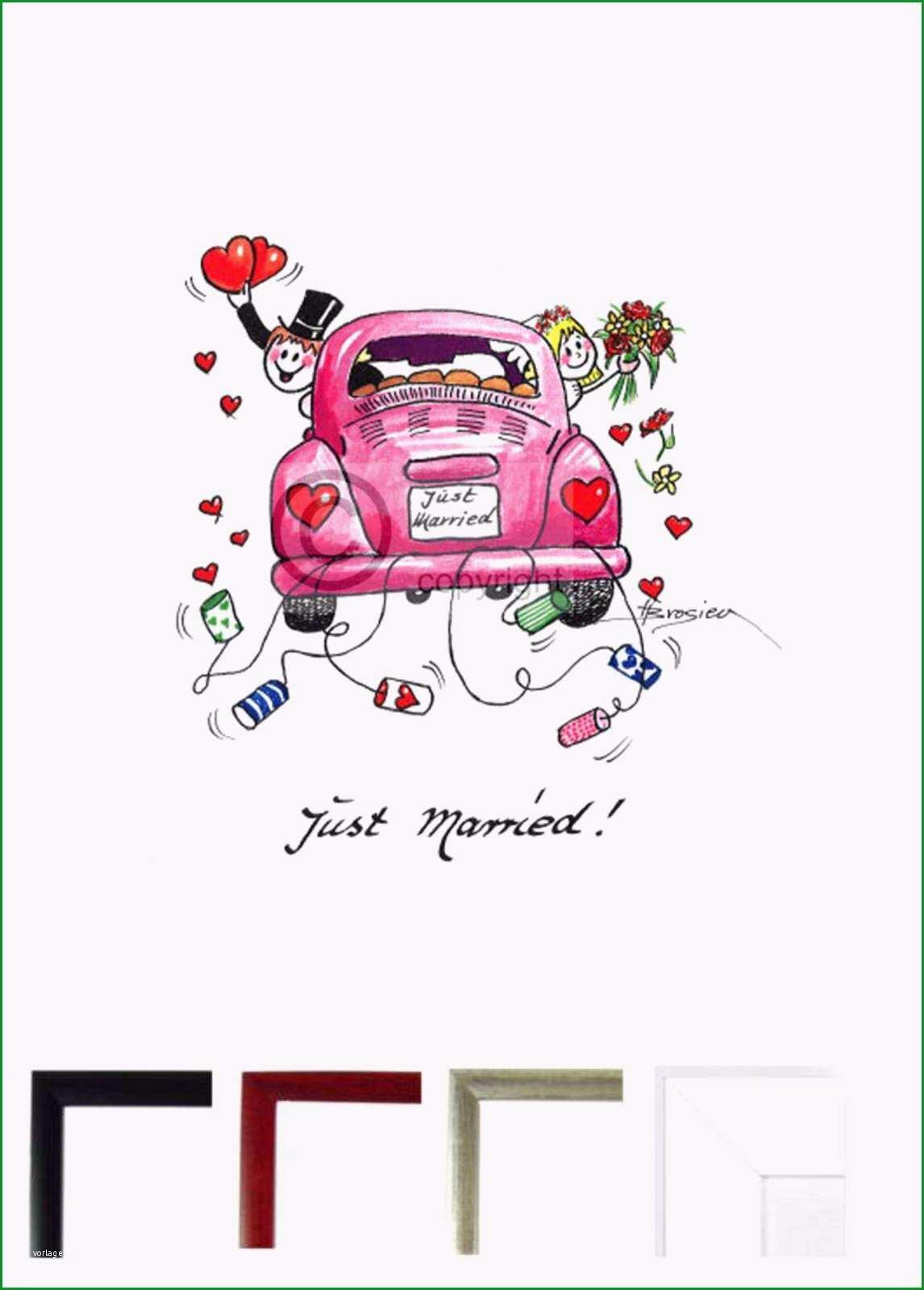 malvorlagen auto just married  ein bild zeichnen