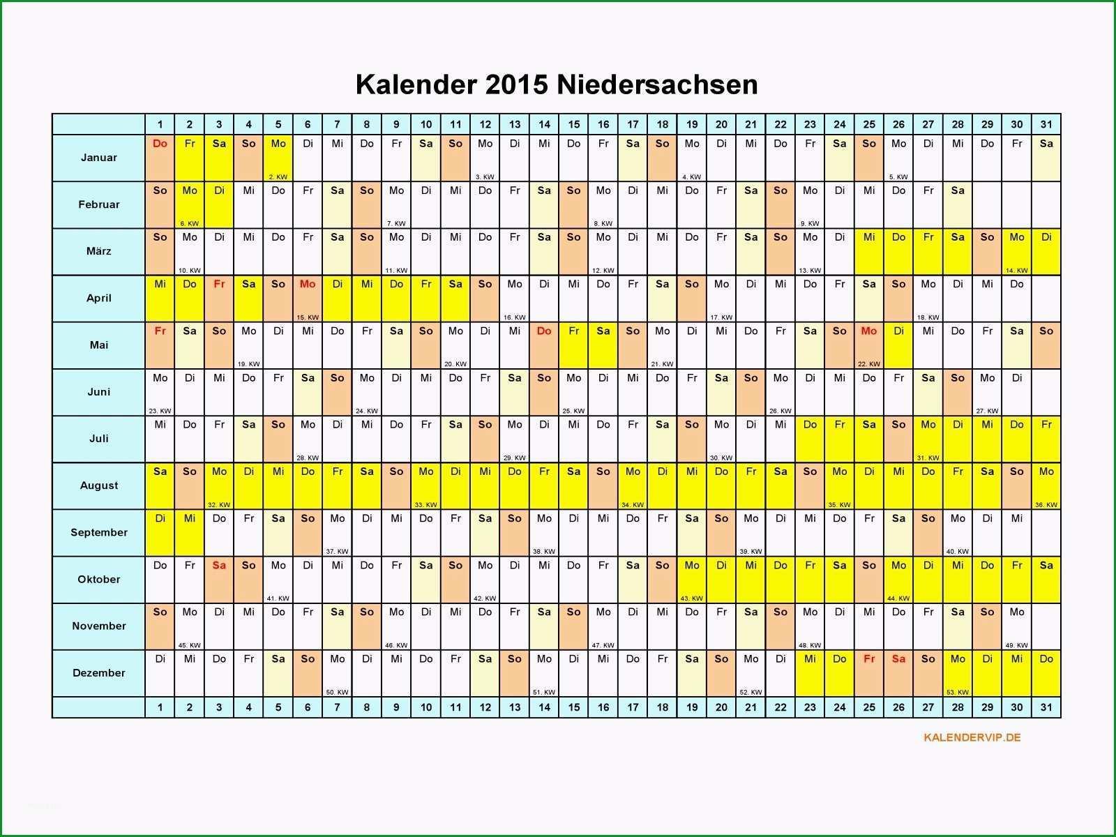 kalender 2015 niedersachsen
