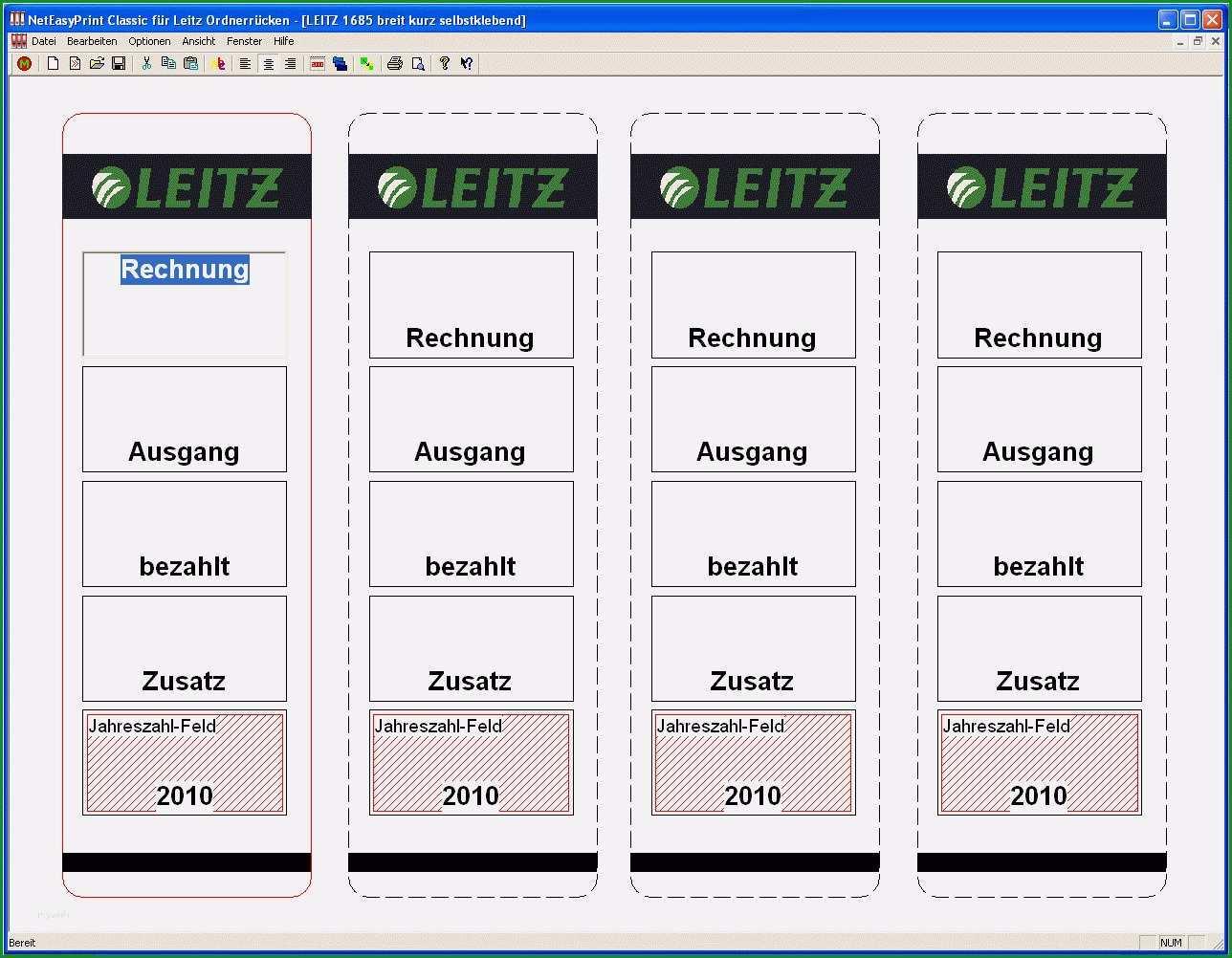 Einzahl Leitz ordner Etiketten Vorlage Word 2010 Schönste