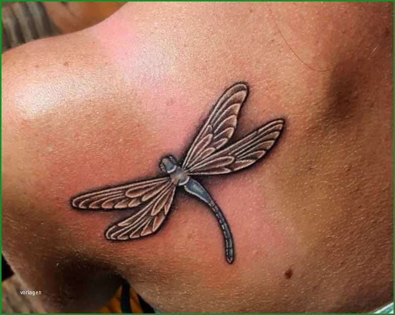 Einzahl Libelle Tattoo – Symbolische Bedeutung Und originelle Ideen