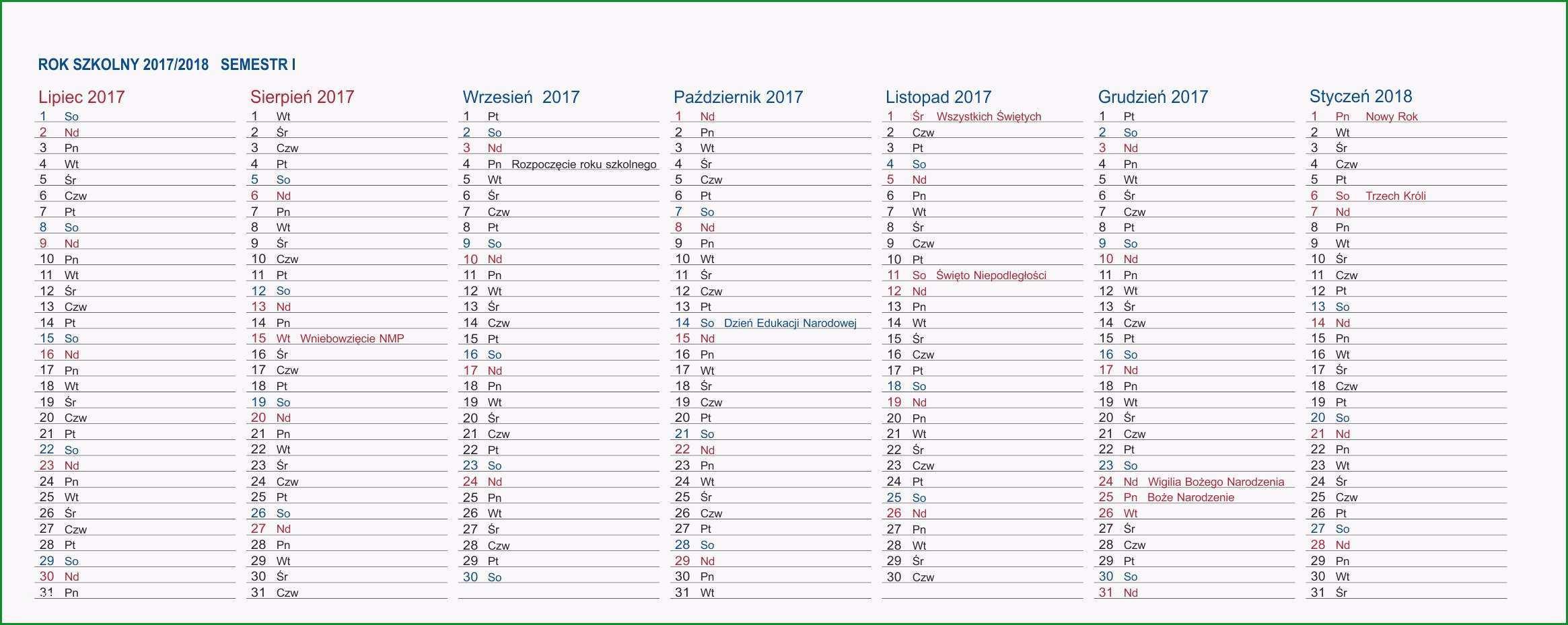 Kalendarz biurkowy EXCLUSIVE PLUS na rok szkolny niebieski