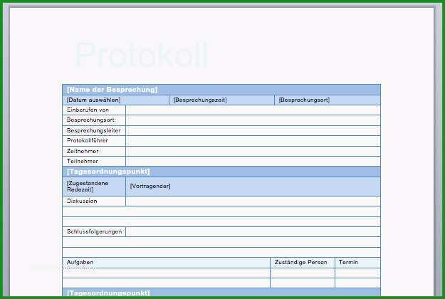 protokoll vorlage bewundernswerte protokollvorlage protokoll schreiben aufbau muster