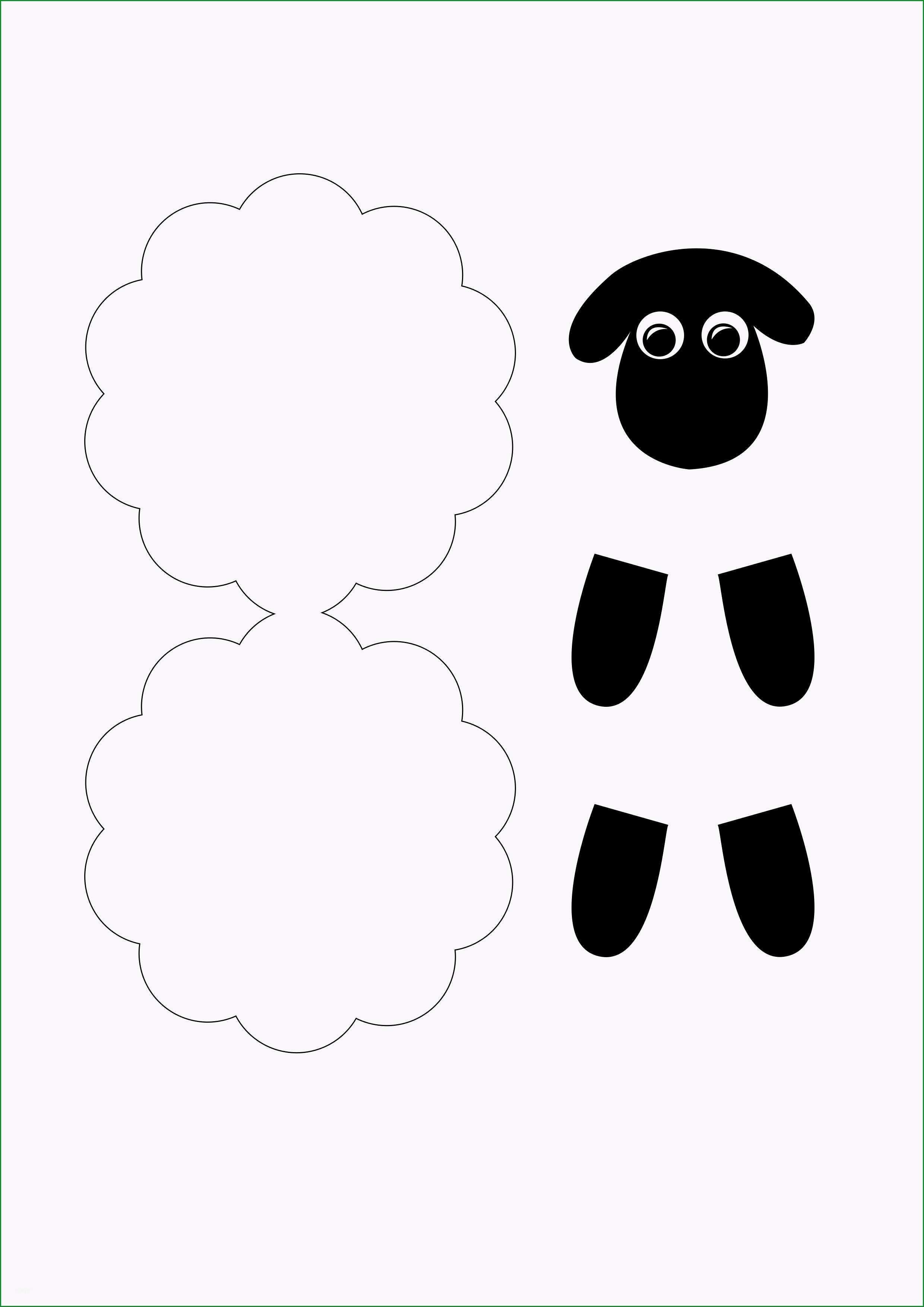 Einzahl Schaf Basteln Mit Kindern Kostenlose Vorlage Und Einfache