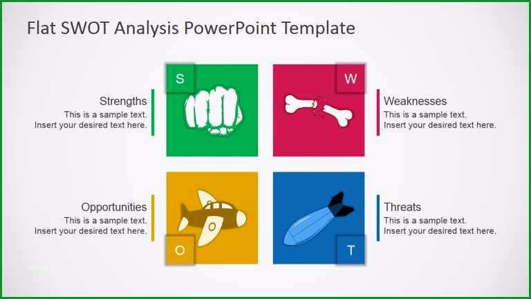 swot analyse vorlage powerpoint