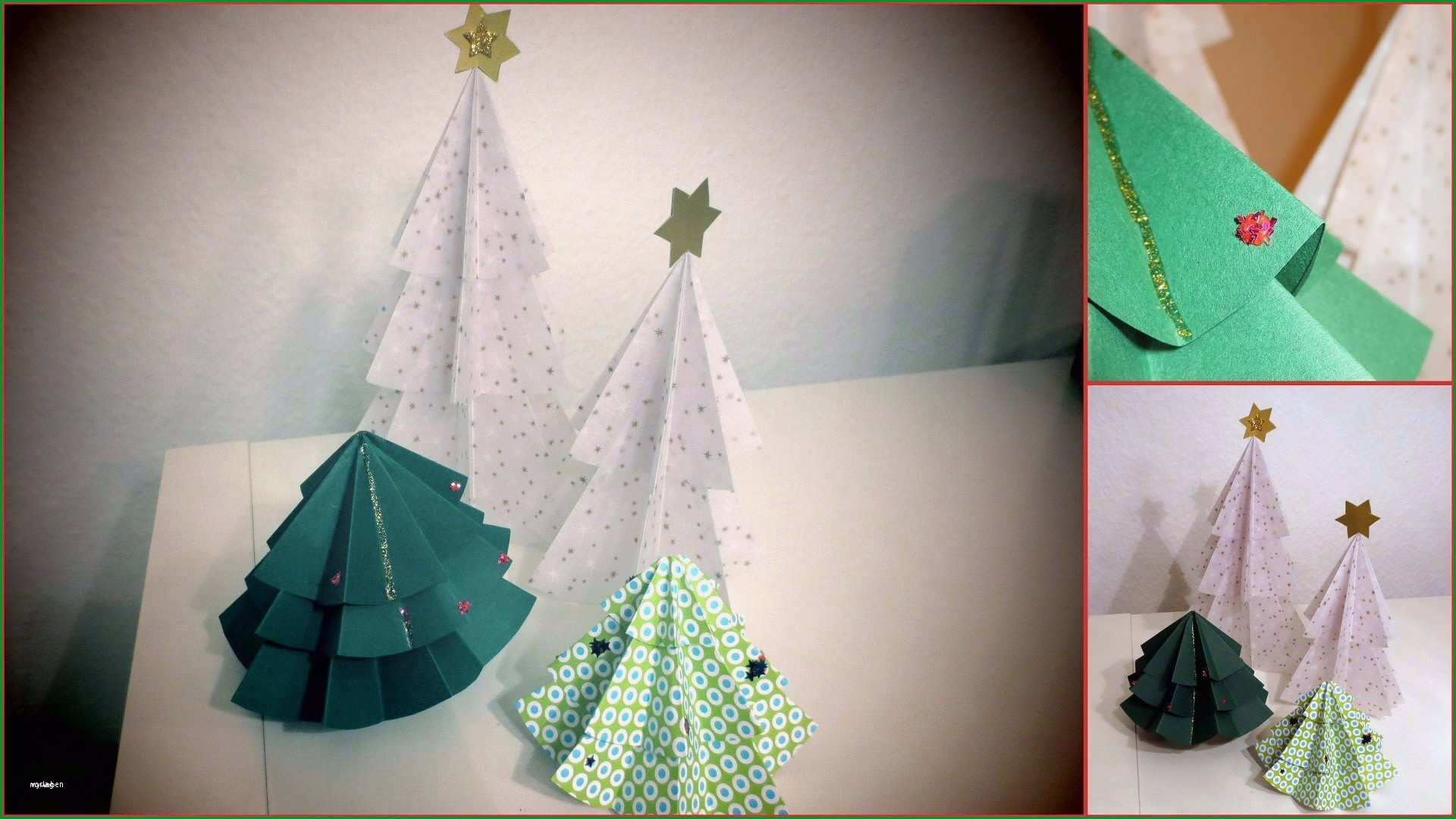 tannenbaum basteln papier vorlage inspiration weihnachtsbaume basteln