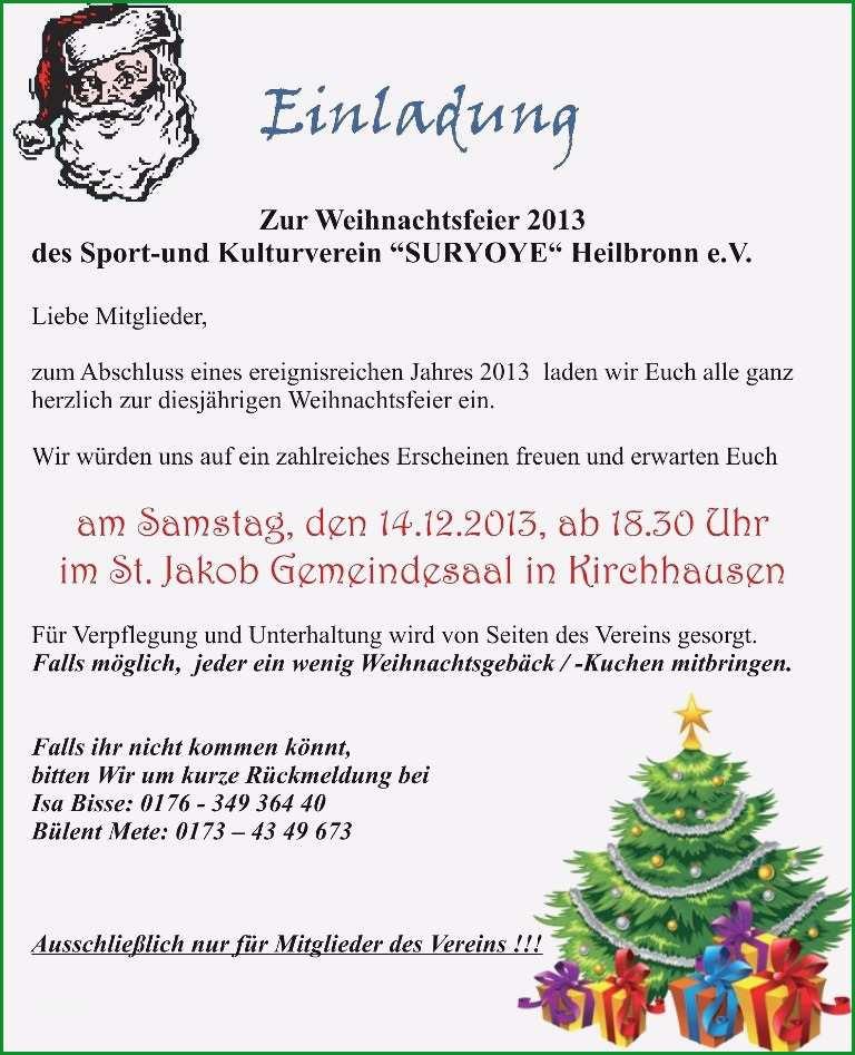 Einladung Weihnachtsfeier Verein.Ungewohnlich Einladung Weihnachtsfeier Vorlage Sie
