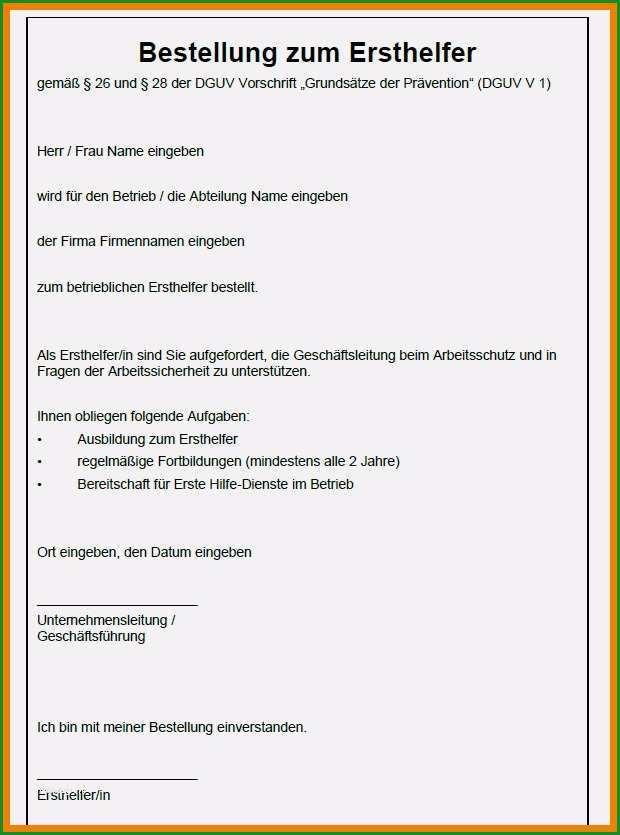 bestellung brandschutzbeauftragter vorlage doc