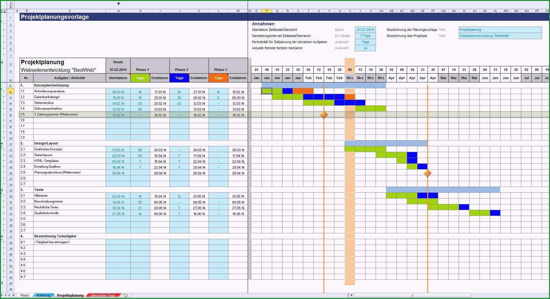 Erstaunlich 8 Projektstrukturplan Vorlage Excel Kostenlos
