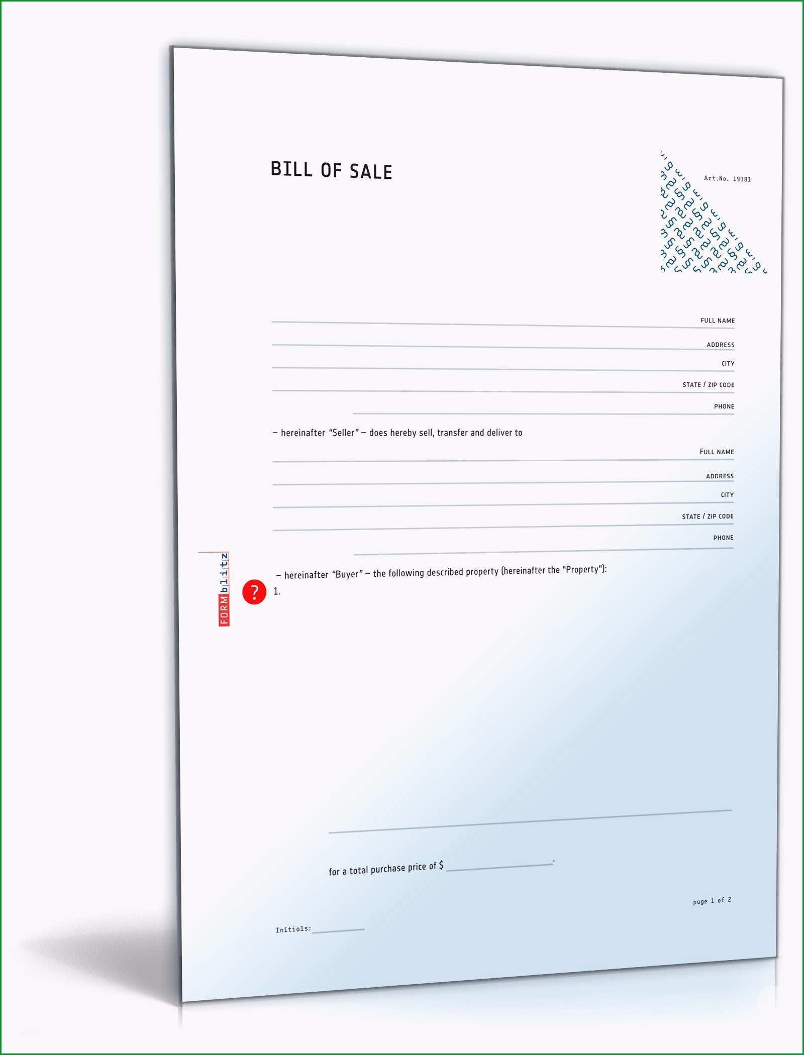 general bill of sale