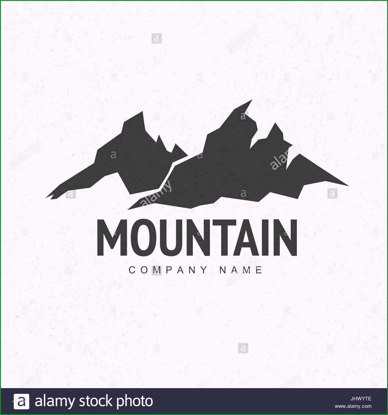stockfoto der gipfel berge logo vorlage mit abstrakten hintergrund monochrom abstrakt gebirgshintergrund bergsteigen und reisen symbol