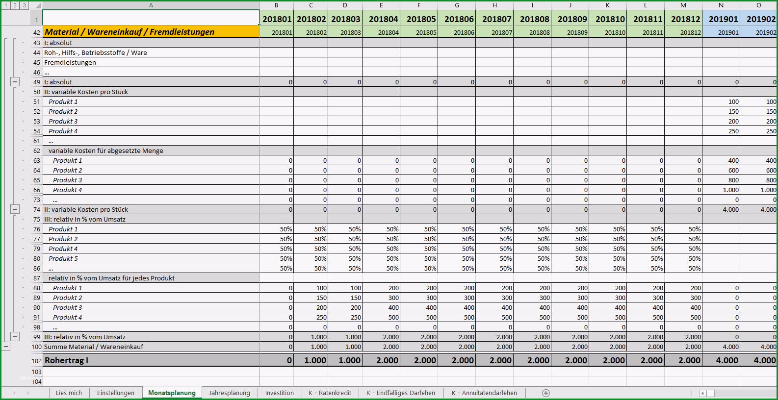 Erstaunlich Excel Vorlage Finanzplan Businessplan Pierre Tunger