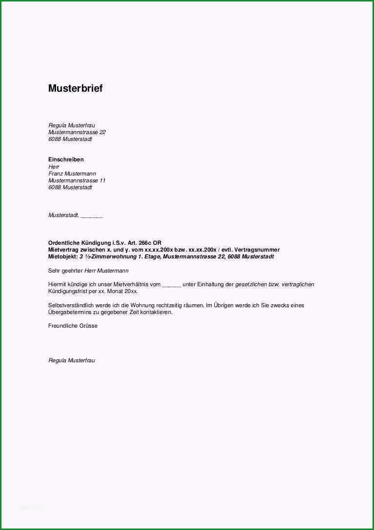 kundigungsbestatigung vermieter vorlage kostenlos einzigartig kundigung mietverhaltnis musterbrief vermieter kundigung