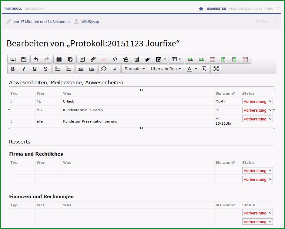 protokoll schreiben leicht gemacht im wiki protokolle online und zentral erstellen und verwalten