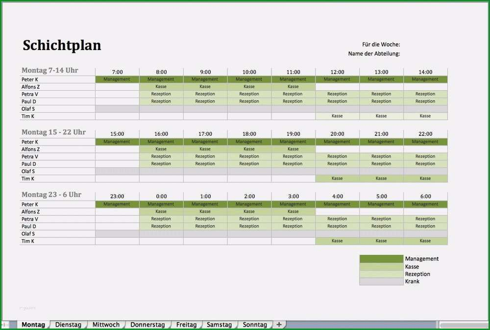 schichtplan vorlage 3 schichten erstaunlich nstplan als excel vorlage