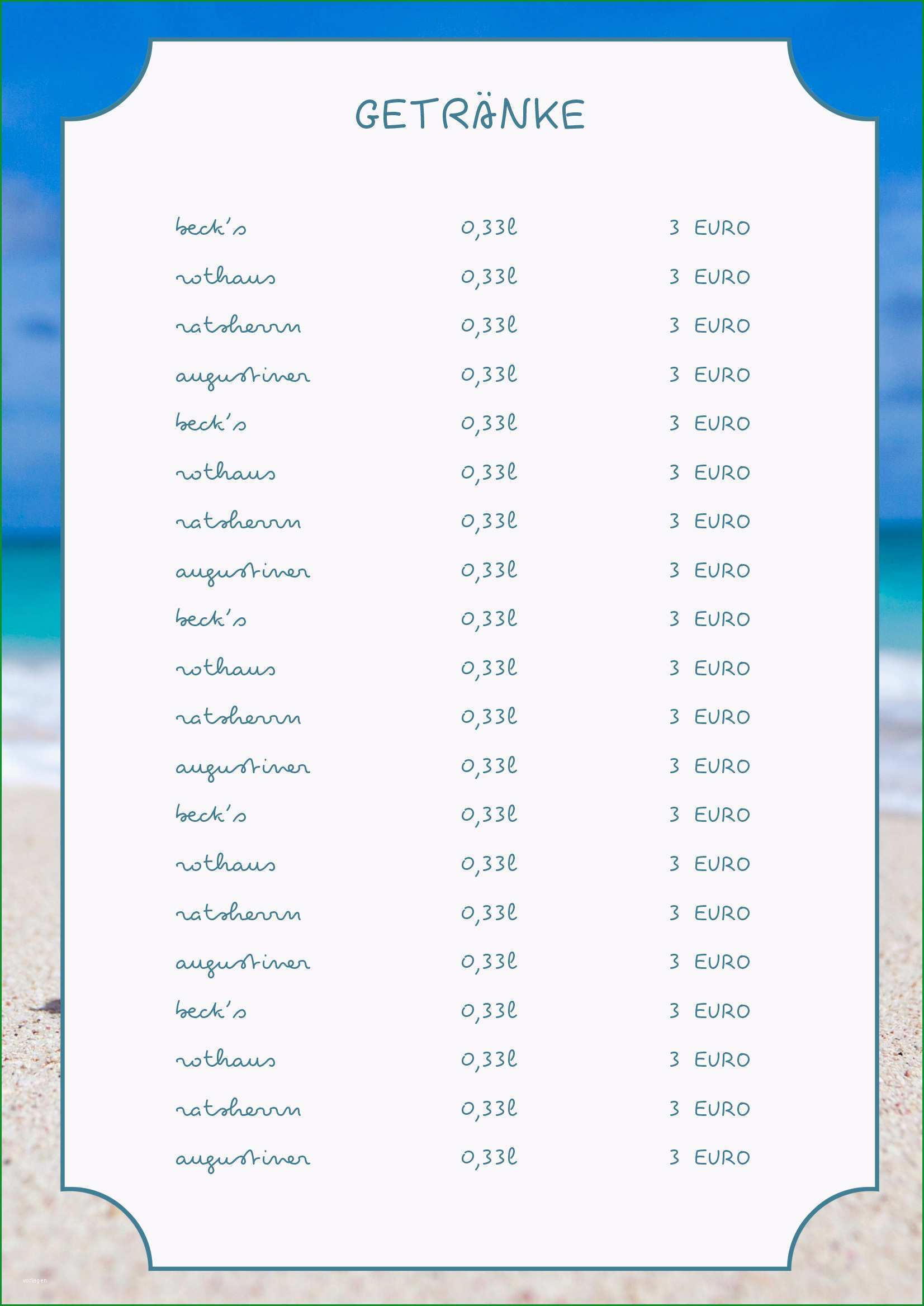cocktail menu template design 5542
