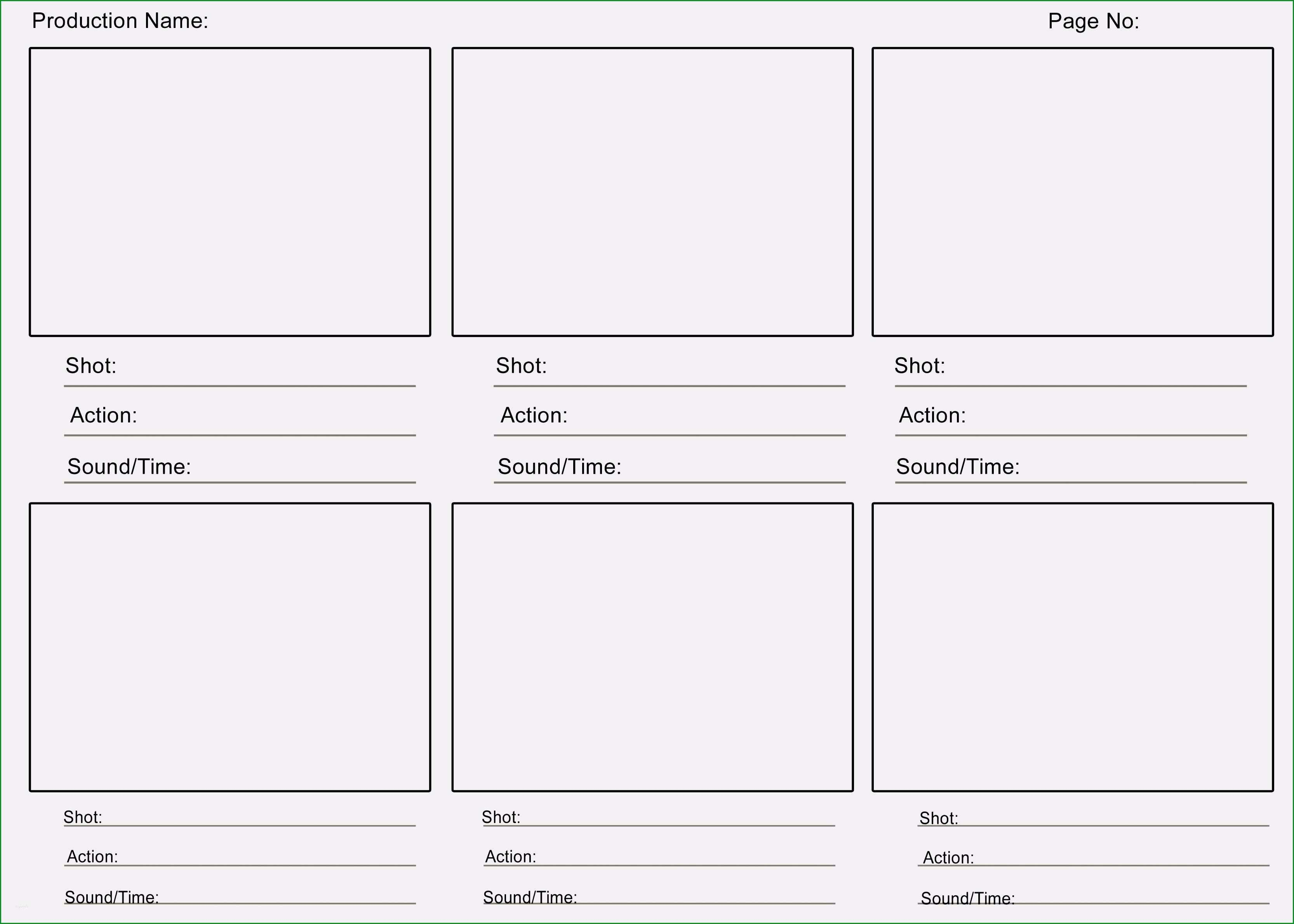 storyboard template ppt