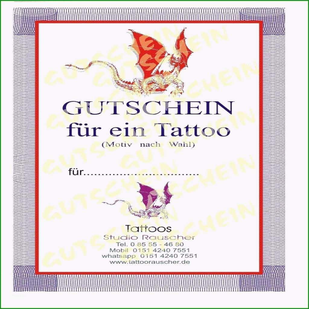 tattoo gutschein vorlage ausdrucken wunderbar 35 gutschein