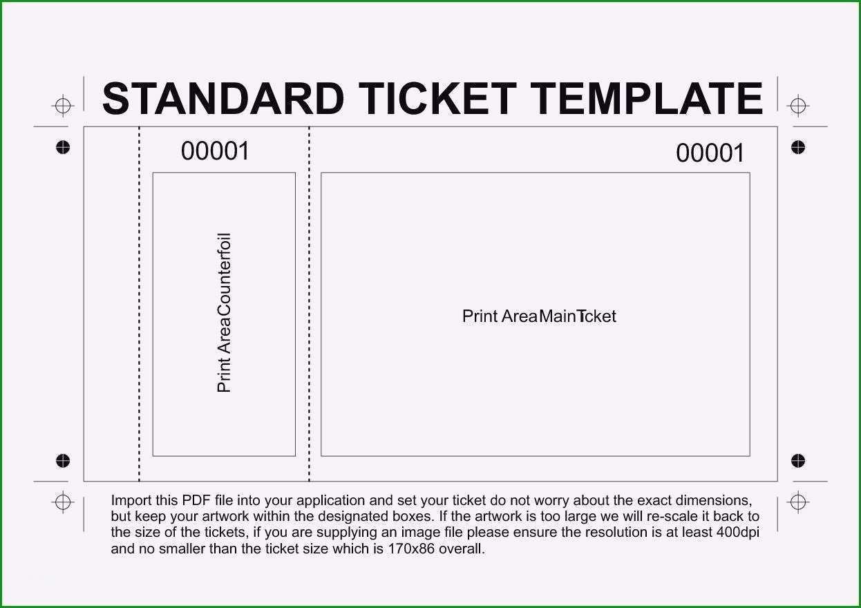 ticket vorlage kostenlos